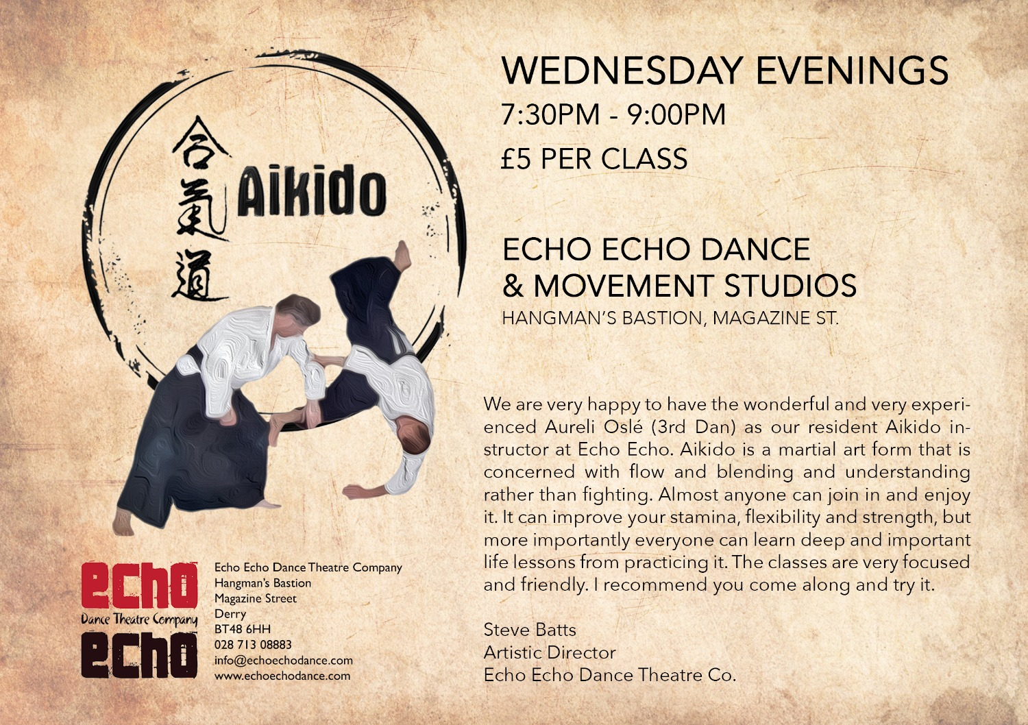 What's on at Echo Echo Studios