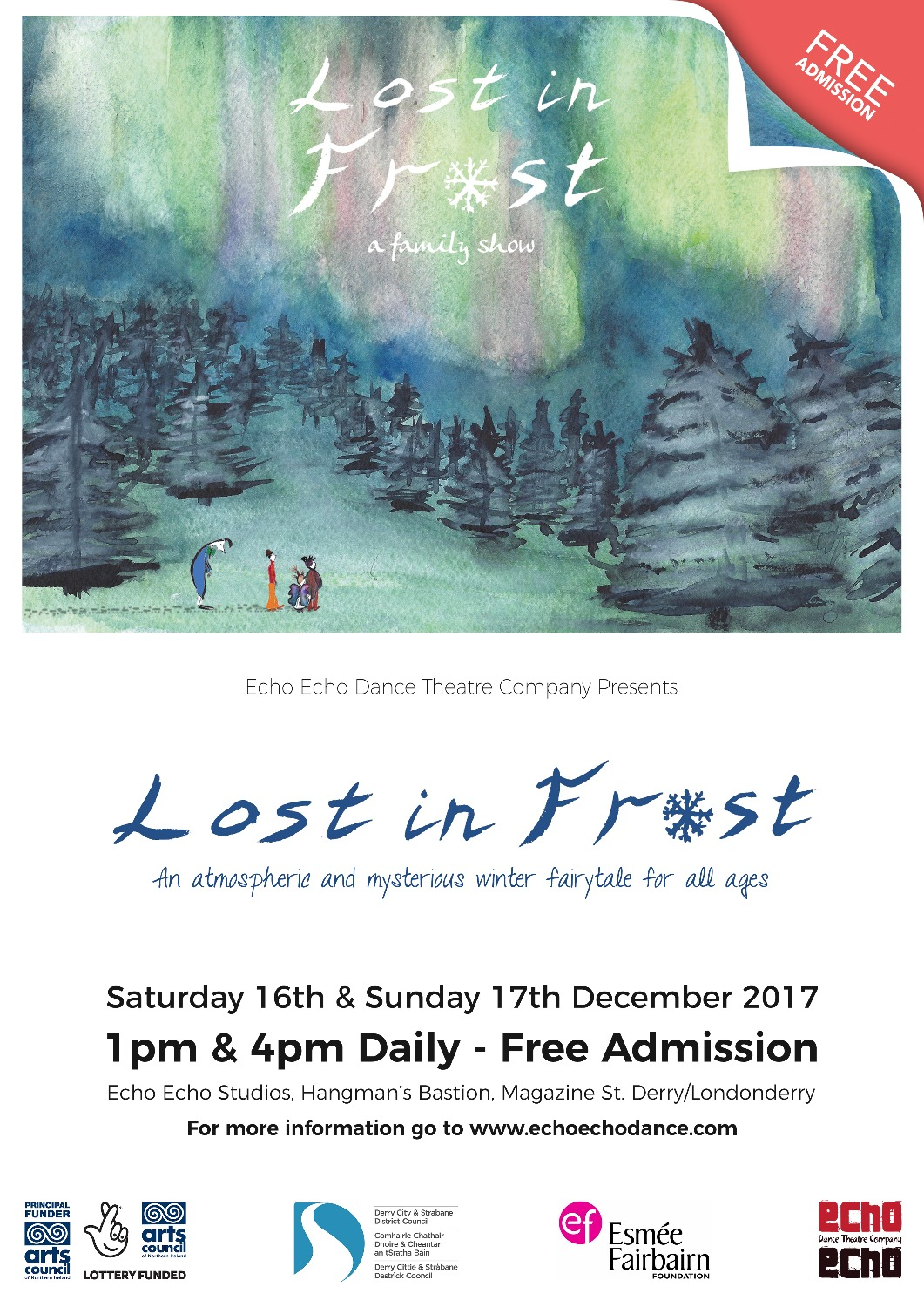 Lost in Frost 2017 Derry artwork